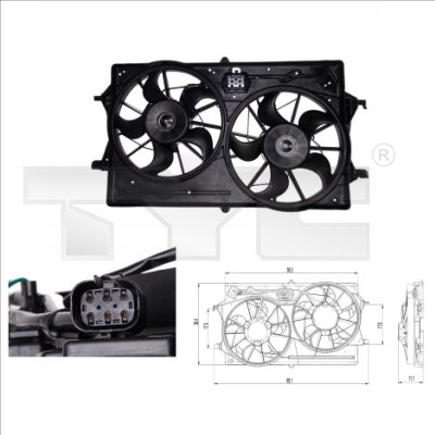 Ventilateur, refroidissement du moteur - TCE - 99-810-0019