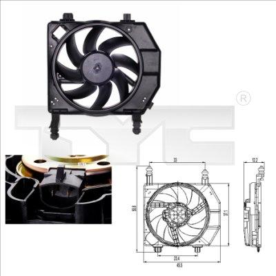 Ventilateur, refroidissement du moteur - TYC - 810-0022