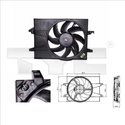 Ventilateur, refroidissement du moteur - TYC - 810-0025