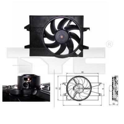 Ventilateur, refroidissement du moteur - TCE - 99-810-0026