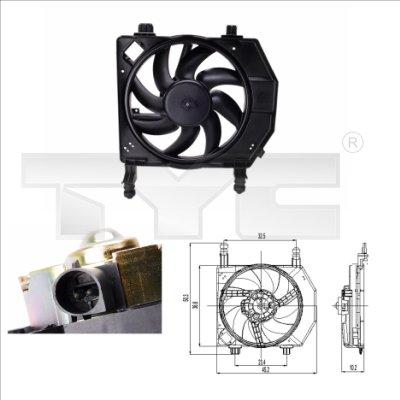 Ventilateur, refroidissement du moteur - TYC - 810-0028