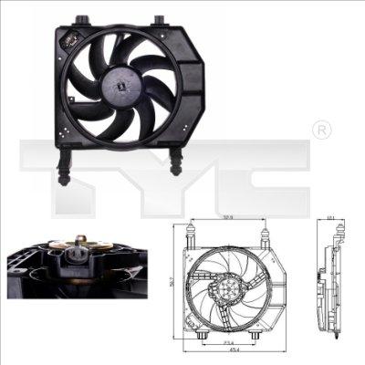 Ventilateur, refroidissement du moteur - TYC - 810-0029
