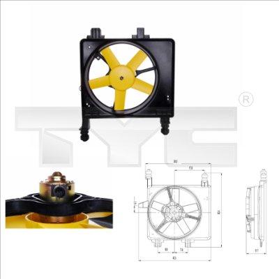 Ventilateur, refroidissement du moteur - TYC - 810-0030