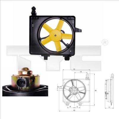 Ventilateur, refroidissement du moteur - TYC - 810-0031