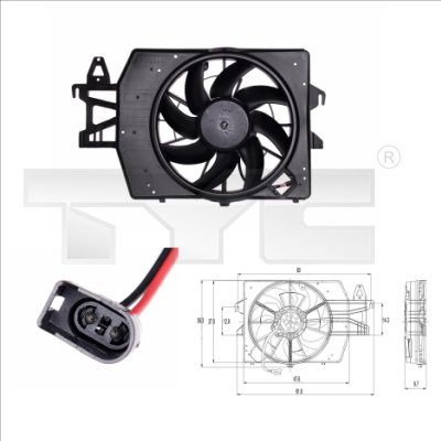 Ventilateur, refroidissement du moteur - TYC - 810-0032