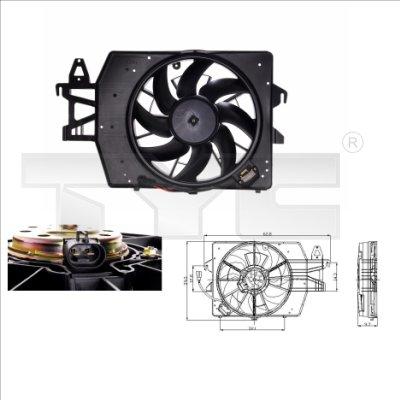 Ventilateur, refroidissement du moteur - TYC - 810-0040