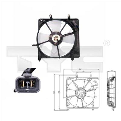 Ventilateur, refroidissement du moteur - TYC - 812-0001