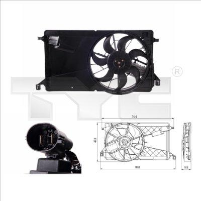 Ventilateur, refroidissement du moteur - TYC - 820-0001