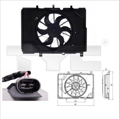 Ventilateur, refroidissement du moteur - TYC - 821-0001