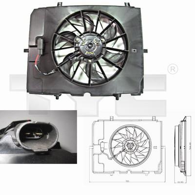 Ventilateur, refroidissement du moteur - TYC - 821-0002