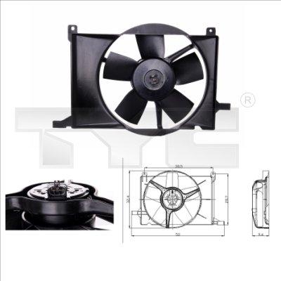 Ventilateur, refroidissement du moteur - TYC - 825-0002