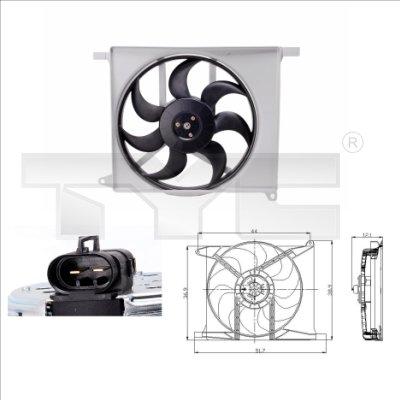 Ventilateur, refroidissement du moteur - TYC - 825-0003