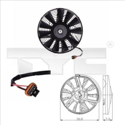 Ventilateur, refroidissement du moteur - TYC - 825-0006