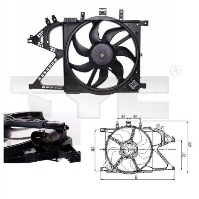 Ventilateur, refroidissement du moteur - TYC - 825-0007