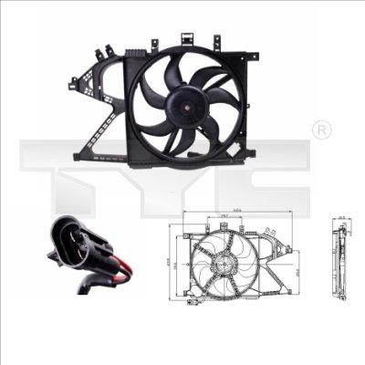 Ventilateur, refroidissement du moteur - TCE - 99-825-0008