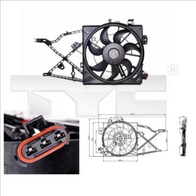 Ventilateur, refroidissement du moteur - TYC - 825-0010