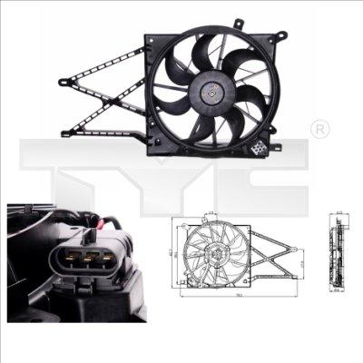 Ventilateur, refroidissement du moteur - TYC - 825-0011
