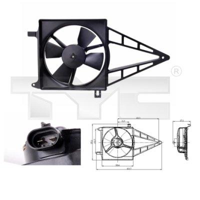 Ventilateur, refroidissement du moteur - TYC - 825-0012