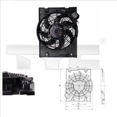 Ventilateur, refroidissement du moteur - TYC - 825-0014