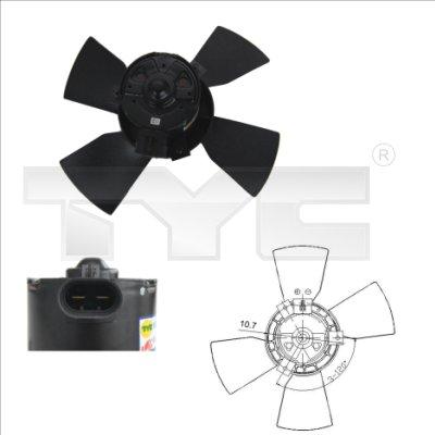 Ventilateur, refroidissement du moteur - TYC - 825-0015