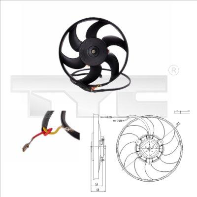 Ventilateur, refroidissement du moteur - TCE - 99-826-0001