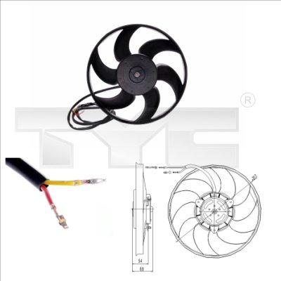 Ventilateur, refroidissement du moteur - TCE - 99-826-0002