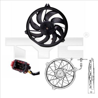 Ventilateur, refroidissement du moteur - TYC - 826-0005