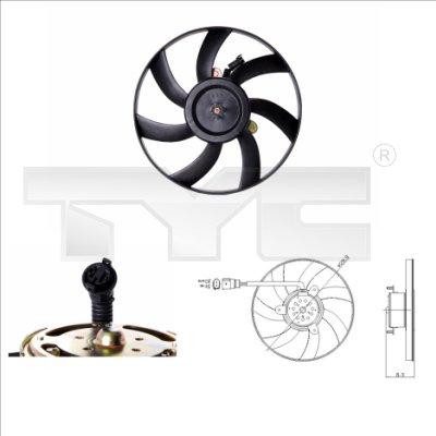 Ventilateur, refroidissement du moteur - TYC - 831-0003