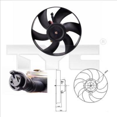 Ventilateur, refroidissement du moteur - TCE - 99-831-0004