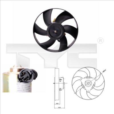 Ventilateur, refroidissement du moteur - TYC - 831-0005