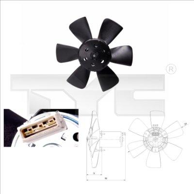 Ventilateur, refroidissement du moteur - TYC - 831-0011