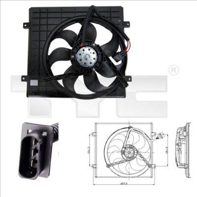 Ventilateur, refroidissement du moteur - TYC - 832-0002