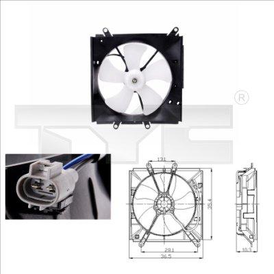 Ventilateur, refroidissement du moteur - TYC - 836-0001