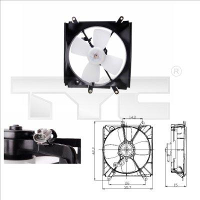 Ventilateur, refroidissement du moteur - TYC - 836-0006