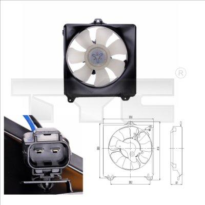 Ventilateur, refroidissement du moteur - TYC - 836-0007