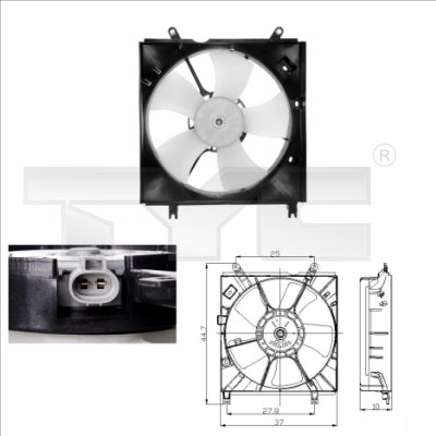 Ventilateur, refroidissement du moteur - TCE - 99-836-0008