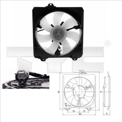 Ventilateur, refroidissement du moteur - TYC - 836-0009