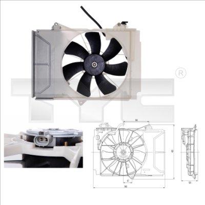 Ventilateur, refroidissement du moteur - TCE - 99-836-0011
