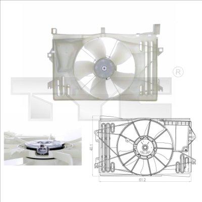 Ventilateur, refroidissement du moteur - TYC - 836-0013