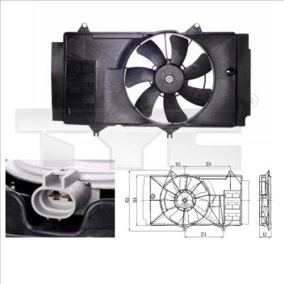 Ventilateur, refroidissement du moteur - TYC - 836-0014