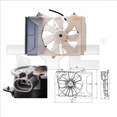 Ventilateur, refroidissement du moteur - TYC - 836-0015