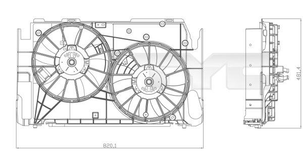Ventilateur, refroidissement du moteur - TYC - 836-0016