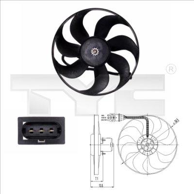 Ventilateur, refroidissement du moteur - TYC - 837-0003