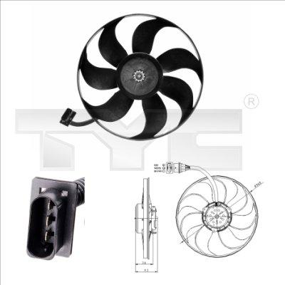 Ventilateur, refroidissement du moteur - TCE - 99-837-0004