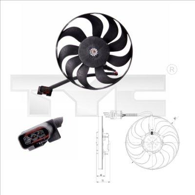 Ventilateur, refroidissement du moteur - TYC - 837-0005