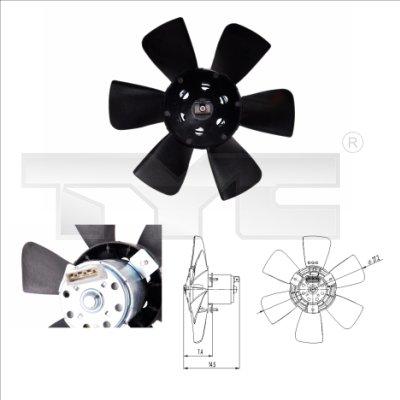 Ventilateur, refroidissement du moteur - TYC - 837-0007