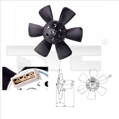 Ventilateur, refroidissement du moteur - TCE - 99-837-0008