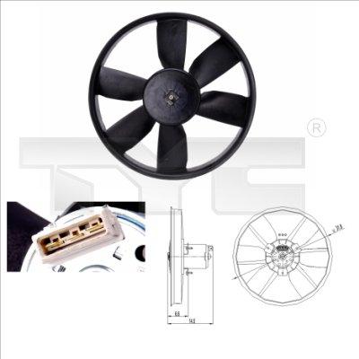 Ventilateur, refroidissement du moteur - TYC - 837-0009