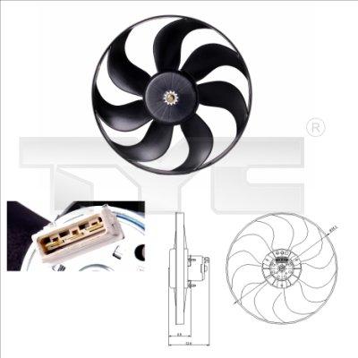 Ventilateur, refroidissement du moteur - TYC - 837-0010