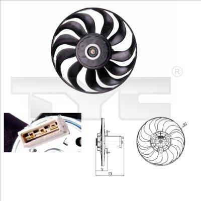 Ventilateur, refroidissement du moteur - TYC - 837-0012